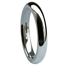 4mm 9ct Oro Blanco Corte Perfil ALIANZAS Bandas 375 5.2 / 6.4g X Pesado GB HM