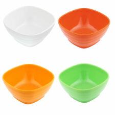 Cuenco Plástico Cuadrado Sopa Frutas Arroz Ensalada Cereal