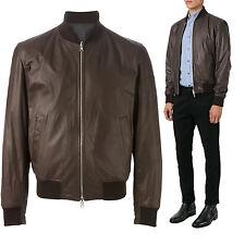 ★Giacca Giubbotto Uomo in di PELLE 100% Men Leather Jacket Veste Homme Cuir Y49