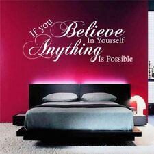 Believe in yourself possible Sticker de CITATION Art mural Décalque transfert