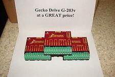 THREE CNC Geckodrive G-203V ONE YEAR FACTORY WARRANTY steppr motor Drvr W/EXTRAS