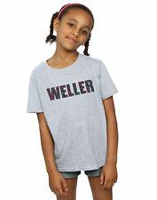 Paul Weller Bambine e ragazze Paisley Logo 2 Maglietta