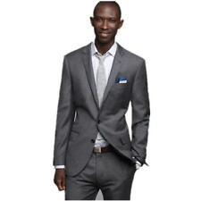 Grey Groom Tuxedos Slim Groom Business Suits Groomsman Suit Custom Made Man Suit