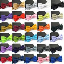 Classic Men Tie Bow Tie Set Silk Solid Paisley Necktie Bowtie Hanky Cufflinks