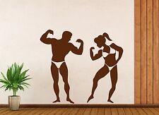 Wall Vinyl Sticker Sport Fitness Beautiful Body Muscles Relief (n403)