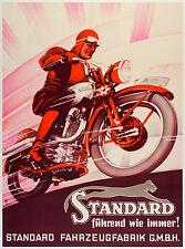 A1 Print -poster motor bike racing vintage cafe racers standard