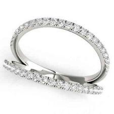 1/4ct Diamond Ring Open Fashion Right Hand Split Band White Gold