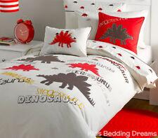 Stegosaurus Dinosaur Quilt Cover Set Doona Duvet Boys Bedding Bedroom Kids Dino