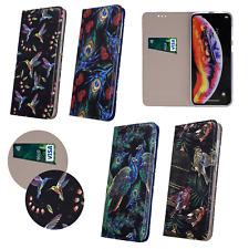 Nokia 4.2 2019 Cover Handy Tasche Schutz Hülle Motiv BOOK Pfau Vögel Case Muster