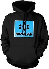 Bipolar Happy Sad Smiley Sad Face Funny Humor Joke Parody Hoodie Pullover