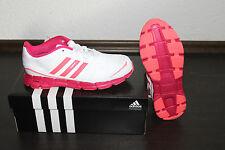 Adidas AdiFast Funcionamiento De Las Mujeres Correr Botín Blanca Rosa Talla 38/