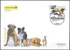 BRD 2012: Tierheime! Post-FDC der Nr 2945 mit Berliner Ersttags-Sonderstempel!