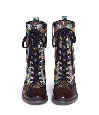 SAM EDELMAN Women's  Daphne Mid Calf Lace Up Boots Leather Sequins NIB