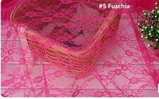 """Tela de encaje de boda traje de novia encaje de Chantilly Tela 59"""" de ancho de tela de encaje floral 1 M"""