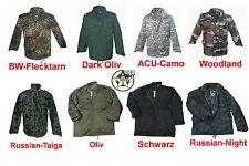 NEU M65 Jacke M-65 Feldjacke US Army Parka S M L XL XXL XXXL 3XL schwarz bw camo