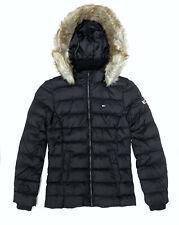Tommy Jeans Daunenjacke Essential Hooded Damen Jacke Winterjacke Jacket Black