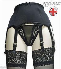 NYLONZ 8 Strap PREMIER Suspender Belt Black (Garter Belt) *FREE UK SHIPPING*