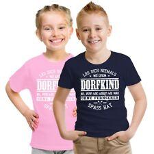 Kinder T-Shirt Leg dich nie mit einem Dorfkind an Größe 86 - 164 Mädchen Jungen