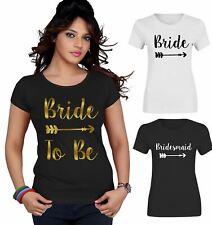 Bride To Be Bride Top T Shirt Womens Bridesmaid Ladies Hen Party Tee