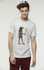 Lacoste Live Sobek tenis Estampada Camiseta-Beige y Blanco-S M L