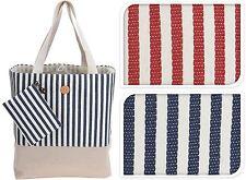 Extra Large Beach Bag Tote Picnic Bag Holiday Straw & Cotton Beach Bag Shopper