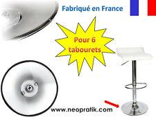 Protection plastique pour 6 tabourets : pied socle de tabouret chaise de bar