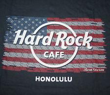 2018 HARD ROCK CAFE HONOLULU HAWAII USA FLAG LOGO TEE SHIRT T MEN'S S-3X NEW