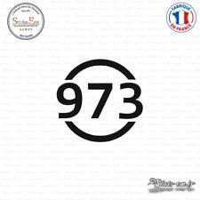 Sticker Département 973 Guyane DOM Cayenne Decal Aufkleber Pegatinas V-117