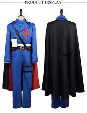 G.I. Joe Retaliation Cobra Commander Uniform Cosplay Costume Blue Men Suit