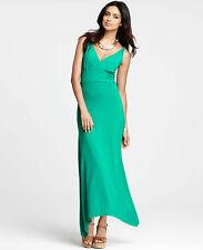 Brand New Ann Taylor Asymmetric Hem Maxi Dress Color Green