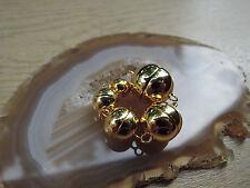 Magnetverschluß 925er Silber vergoldet Magnetschließe Basteln Kette Armband