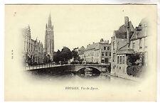 Vue du Dyver - Bruges Photo Postcard c1899