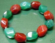 Brown & Green Stone Bracelet