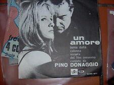 """7"""" PINO DONAGGIO OST UN AMORE B/W SI CHIAMA MARIA COVER N/MINT EX++ VINILE MINT"""