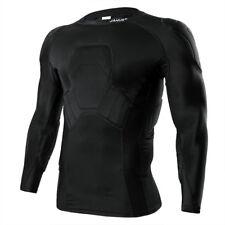 Janus Football Soccer Goalkeeper Protective Shirt Jersey Top Long Sleeve Pads
