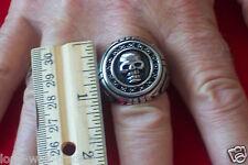 """""""Large"""" Stainless Steel Skull Ring -Men's -SR4012-J"""