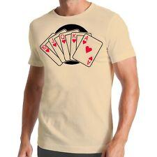 Poker Flush T-Shirt | cartes | Royal | AAS | jeu | Game | CASINO Table valise
