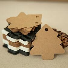 50x Christmas Tree Kraft Wedding Party Gift Card Luggage Paper Hang Tags HCUK