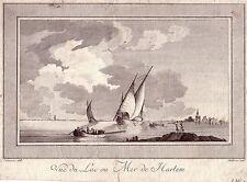 Lac de Harlem Niederlande Kupferstich 1780 Sarrazin