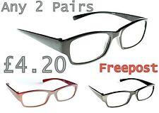 2 PAIA bilancio Moda Occhiali da lettura in 3 COLORI +1.0+1.5+2.0+2.5+3.0 TN33