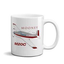 New listing Mooney M20C (Red/Silver) Airplane Ceramic Mug - Personalized w/ N#