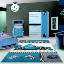Kids Car Rug Boys Bedroom Play Room Mat Childrens Carpet Mats Small Large Blue