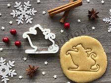 Sleigh Santa Xmas Cookie Cutter 04 | Christmas | Fondant Cake Decorating | UK