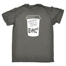 Énergie Lait Café E = MC2 T-shirt homme tee-shirt anniversaire Caféine Drôle Blague Fashion