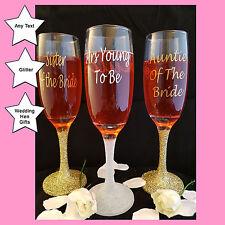 Personalised Calice Di Champagne Bicchieri, Regalo Nozze o Addio Al Nubilato