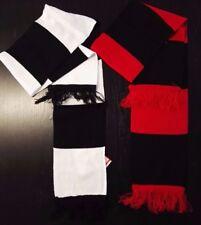 SCIARPA colori Juventus o Milan bicolore rossonera o bianconera frange calcio