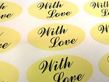 Con Amor sello ovalado en el etiquetas, etiquetas Para Envoltorio De Regalo, Sobres, Bolsos O Tarjetas