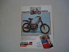 advertising Pubblicità 1981 MOTRON GL4 GL 4