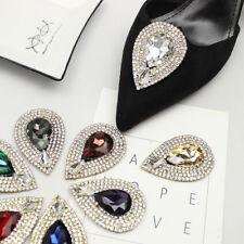 Diamante Crystal Teardrop Wedding High Heel Shoe Clips Charms Decoration