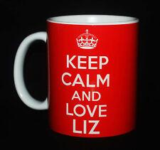 KEEP CALM AND LOVE LIZ CARRY ON GIFT MUG CUP QUEEN DIAMOND JUBILEE 1952 - 2012